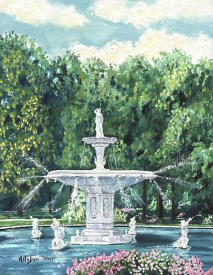 The Fountain Print by Stanton D Allaben