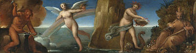 Painting - The Four Elements by Attributed to Girolamo da Carpi