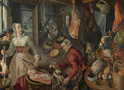 Martha Mary Painting - The Four Elements - Fire by Joachim Beuckelaer