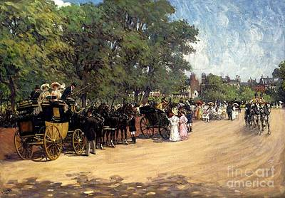 Hyde Park Painting - The Four--in--hand Hyde Park by MotionAge Designs