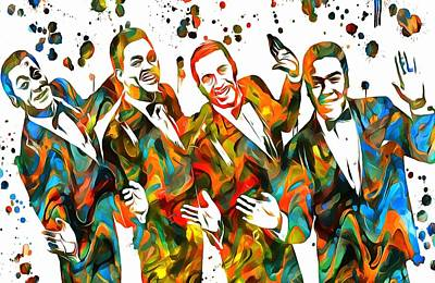 The Four Tops Paint Splatter Print by Dan Sproul