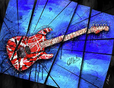 Van Halen Digital Art - The Frankenstrat Vii by Gary Bodnar