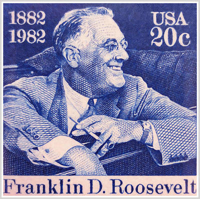 Franklin Roosevelt Painting - The Franklin D. Roosevelt Stamp by Lanjee Chee