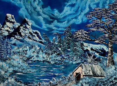 Bob Ross Painting - The Freeze by Vincent Keele