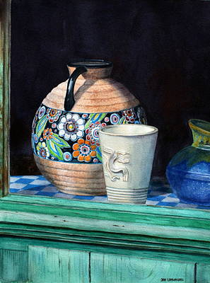 The French Potter's Window Original by Jan Lawnikanis