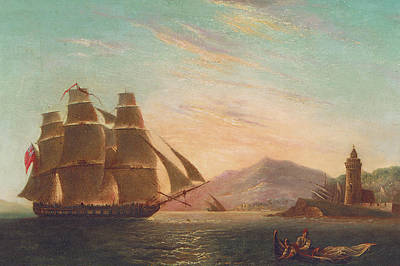 Pirate Ships Painting - The Frigate Hms Pearl by English School