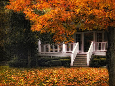 Rural House Photograph - The Front Porch by Jessica Jenney