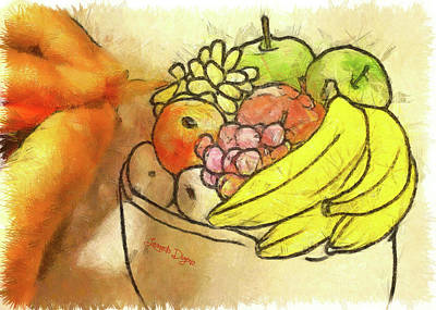 Fingers Painting - The Fruit Maker by Leonardo Digenio
