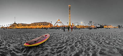 Lifeguard Photograph - The Fun Is In The Middle - Santa Cruz by Scott Campbell