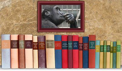Book Title Digital Art - The Funny Book Section by John Haldane