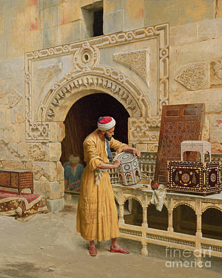 Carved Painting - The Furniture Maker by Ludwig Deutsch