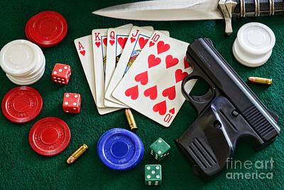 The Gambler Print by Paul Ward