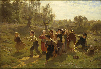 Painting - The Game by August Malmstrom