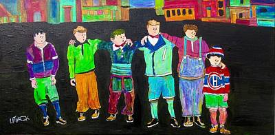 Painting - The Gang,best Friends by Michael Litvack