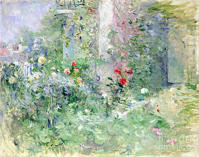 Park Oil Painting - The Garden At Bougival by Berthe Morisot