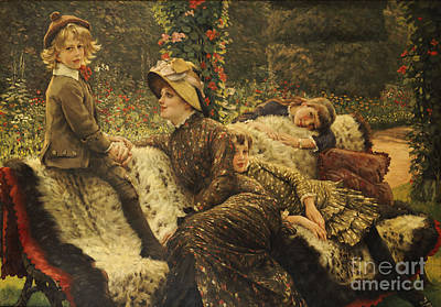 Newton Painting - The Garden Bench by Tissot