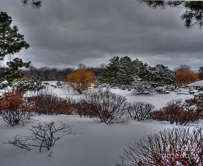 The Garden In Winter Print by David Bearden