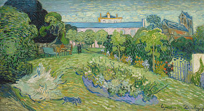 1890 Houses Painting - The Garden Of Daubigny by Vincent van Gogh