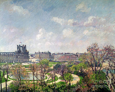 The Garden Of The Tuileries Print by Camille Pissarro