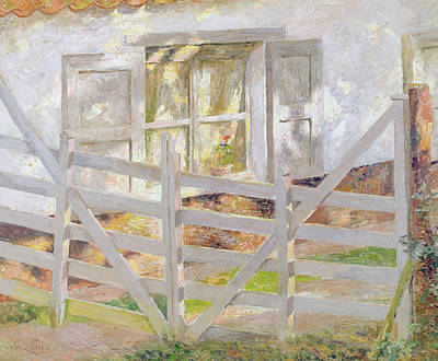 Window Signs Painting - The Gate by Emile Claus
