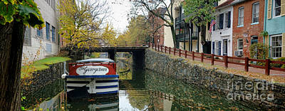 Washington D.c. Photograph - The Georgetown Barge In Washington Dc by Olivier Le Queinec