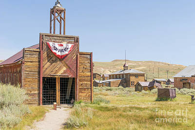 49er Photograph - The Ghost Town Of Bodie California Fire House Dsc4434 by Wingsdomain Art and Photography