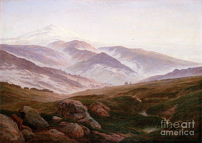 Caspar Painting - The Giant Mountains by Celestial Images