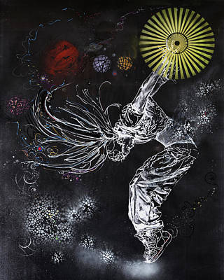 Intergalactic Painting - The Gift Of Being by Susan Card