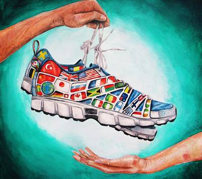Tennis Shoe Drawing - The Gift Of Empathy by Julianna Wells