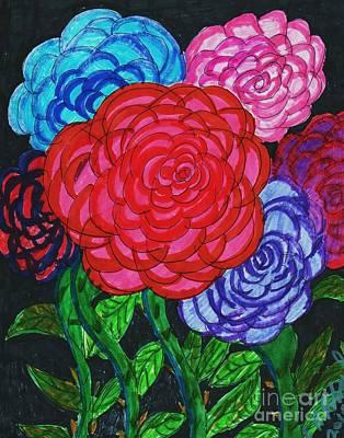Various Mixed Media - The Gift Of Flowers by Elinor Rakowski