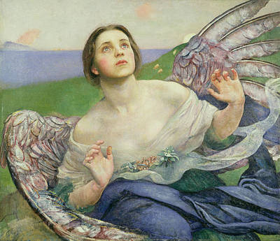 Heavenwards Painting - The Gift Of Sight by Annie Louisa Swynnerton