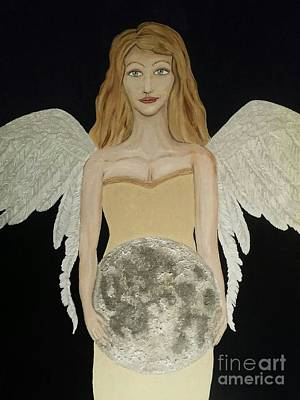 Night Angel Painting - The Gift Of  Light by Wendy Wunstell
