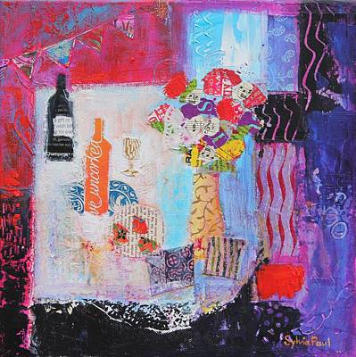 Wine-bottle Painting - The Gifts by Sylvia Paul