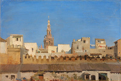 Painting - The Giralda. Seville by Adrien Dauzats