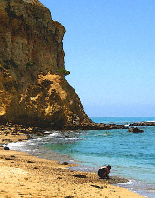 The Girl At Abalone Cove Print by Timothy Bulone