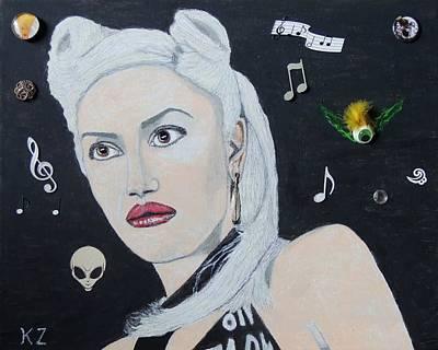 Gwen Stefani Painting - The Girl From Orange County.gwen Stefani. by Ken Zabel