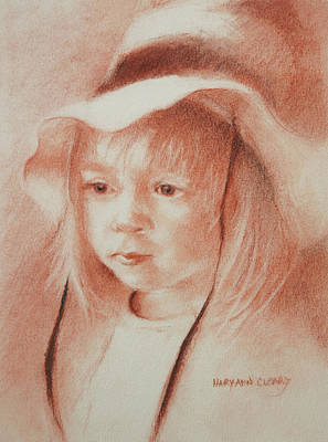 The Girl In The Hat Print by MaryAnn Cleary