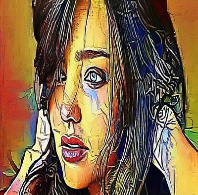 The Girl Tears- My Www Vikinek-art.com Print by Viktor Lebeda