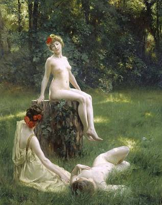 Anatomy Painting - The Glade by Julius Leblanc Stewart