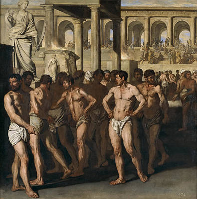 Aniello Falcone Painting - The Gladiators by Aniello Falcone