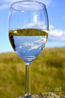 The Glass Is Half Full Print by Thomas R Fletcher
