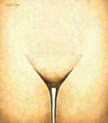 Wineglass Painting - The Glass - Pa by Leonardo Digenio