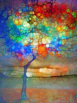 Pathway Digital Art - The Globe Tree by Tara Turner
