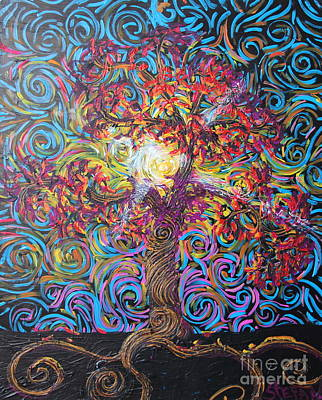 Tree Roots Painting - The Glow Of Love by Stefan Duncan