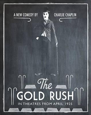 The Gold Rush Charlie Chaplin 1925 Chalk Print by Digital Reproductions