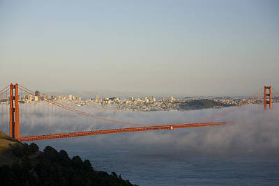 The Golden Gate Bridge From Marin Print by Richard Nowitz