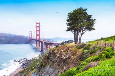 Presidio Park Photograph - The Golden Gate Bridge, San Francisco by Mel Ashar