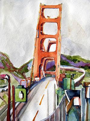 Golden Gate Mixed Media - The Golden Gate Bridge San Francisco by Mindy Newman