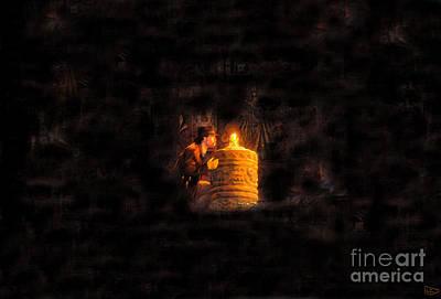 Indiana Scenes Digital Art - The Golden Idol by David Lee Thompson