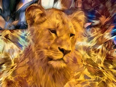 The Golden Lioness  Original by Daniel Arrhakis